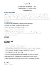 Resume Skills For Bank Teller Mesmerizing 48 Sample Bank Teller Resumes Sample Templates