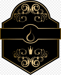 black and gold frame png. Red Wine Paper Label - Black Gold Atmosphere Frame And Png