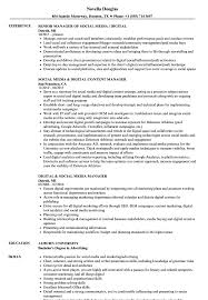 Social Media Skills Resume Digital Social Media Manager Resume Samples Velvet Jobs 23