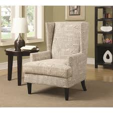 Printed Chairs Living Room Accent Chair Grey Accent Chair Laura Dark Gray Accent Chair