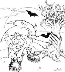 Small Picture New Sonic The Werehog Coloring Pages 21 3121