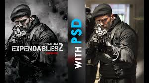 Action Movie Poster Tutorial Expendables With Free Psd
