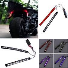 Motorcycle Strobe Lights Details About 9 Led Universal Multicolor Strobe Light Strip Tail For 12v Car Motorcycle Suv
