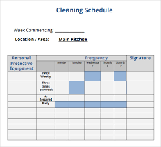 27 Clean Cleaning Chart Format