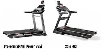 Treadmill Comparison Proform Power 995i Vs Sole F63