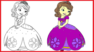 Princess Sofia Coloring Pages Sofia Colouring Book Colors Videos