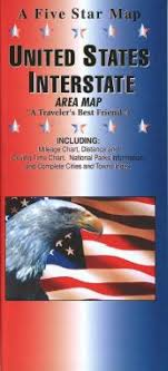 Interstate Mileage Chart United States Interstate Area By Five Star Maps Inc