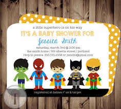 Novel Concept Designs  Baby Marvel Superheroes  Cominc Book Superhero Baby Shower Invitation