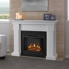 electric fireplace with mantle white real flame hillcrest 48 inch home 16