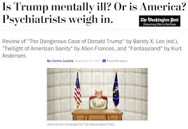 Image result for The Dangerous Case of Donald Trump