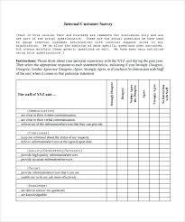 Internal Customer Satisfaction Survey Feedback Template