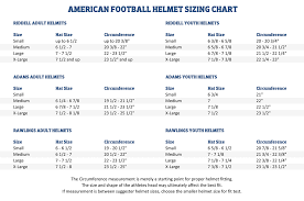 Riddell Helmet Fitting Chart 61 High Quality Riddell Speed Helmet Size Chart