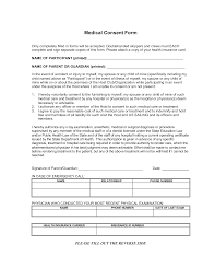 Generic Medical Consent Form Templates At