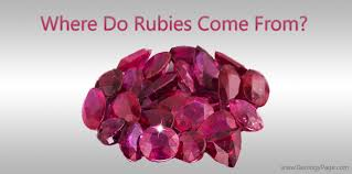 Ruby Gemstone Color Chart Where Do Rubies Come From Geology Page
