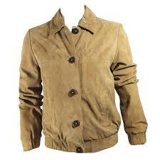 eric bompard suede jacket biker jackets leather beige ref 21227