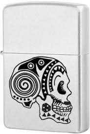 <b>205 Tattoo Skull Зажигалка Zippo</b>, Satin Chrome