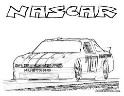 Small Picture NASCAR Race Car Coloring Page You Can Print Out httpwww