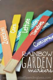 diy rainbow garden markers living well spending less chryssa home decor