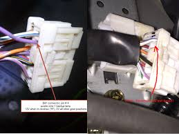 reverse lamp wire 6mt net infiniti g35 g37 gtr forums here s a comparison picture of the b41 harness the purple wire from someone who drives an 03 coupe at on the left and my b41 harness missing the