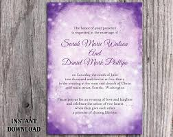 Diy Rustic Wedding Invitation Template Editable Word File