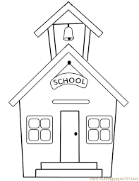 Small Picture House coloring page Schoolhouse coloring page unique School House