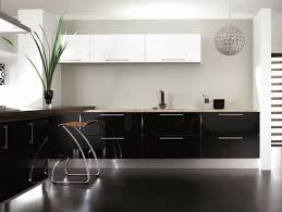 modern black white. Black And White Kitchen Interior Design Image Modern S