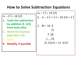 6 how to solve subtraction