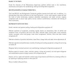 Hvac Technician Resume Tech Resumeser Letter Engineer Mechanical