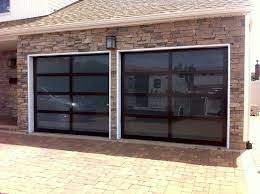 image of glass garage doors design