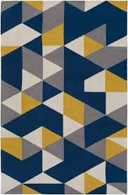navy gray yellow rug designs in blue and 4