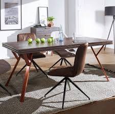 Finebuy Esszimmertisch Davis Massivholz Metall Industrial Tisch Esstisch Massiv Akazie Grau Küchentisch Holztisch Esszimmer Moderner