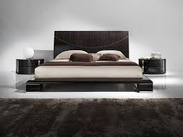Bedroom:Modern Style Bedroom Set Floating Bed With White Led Lights And  Brown Headboard Idea