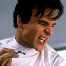 """Steve Martin in """"Little Shop of Horrors"""". First of all, the pre-appointment chit chat is terrible. Here's what happened to me on my most recent exam visit. - steve-martin-dental-drill"""