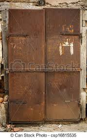 old rusty metal door csp16815535