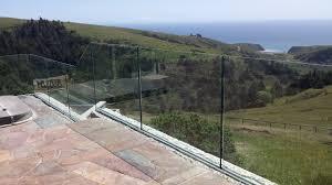 wonderful glass tempered laminated glass railing on deck