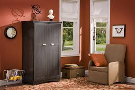 image of contemporary large computer armoire in living rooms colored corner desk armoire
