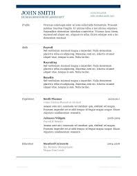 Resume Formats Download Free Resume Template Word Simple Resume