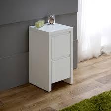 Slimline Bedroom Furniture White High Gloss Slim 2 Drawer Bedside Table Master Bedroom