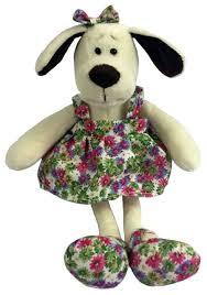 Купить Мягкая <b>игрушка ABtoys Собака в</b> платье с цветами 16 см ...