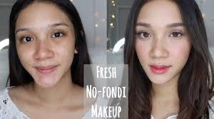 fresh no foundation makeup tutorial makeup tanpa foundation stefanytalita
