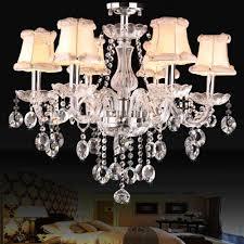 Clear Glass Hanging Light Fixtures Modern Crystal Chandelier Lighting Luxury Clear Glass Chandeliers Lamp Hanging Light Lustres De Cristal Lamp Indoor Lighting