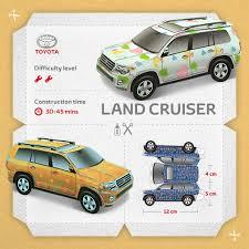 build yourself a toyota land cruiser v8 toyota papercraft landcruiser v8 build