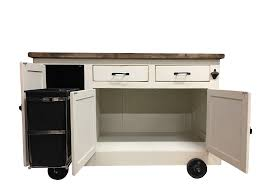 Industrial Kitchen Island Farmhouse Industrial Kitchen Island With Handy Roll Out Trash