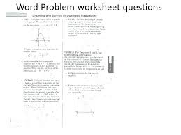 graphing word problems graphing inequalities word problems worksheet pdf