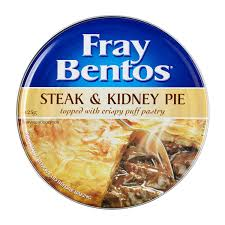 Image result for Fray bentos steak and kidney pie