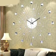 large wall clocks uk contemporary nickel cogs metal wall clock large modern wall clocks uk