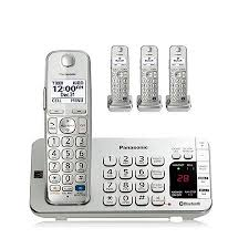 Panasonic Cordless Phone Comparison Chart Panasonic Link2cell Kx Tge274s Dect 6 0 1 90 Ghz Cordless Phone Silver