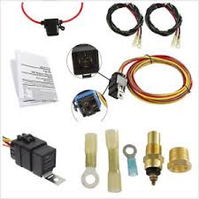 universal 12v car offroad dual electric cooling fan wiring harness image is loading universal 12v car offroad dual electric cooling fan
