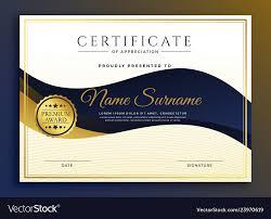 Certificate Of Appreciate Premium Business Certificate Of Appreciate