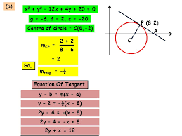 the circle below with centre c has the equation x 2 y 2